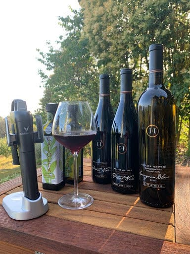 Pinot Noir with Coravin Model 3 and Olive Oil from Halleck Vineyard