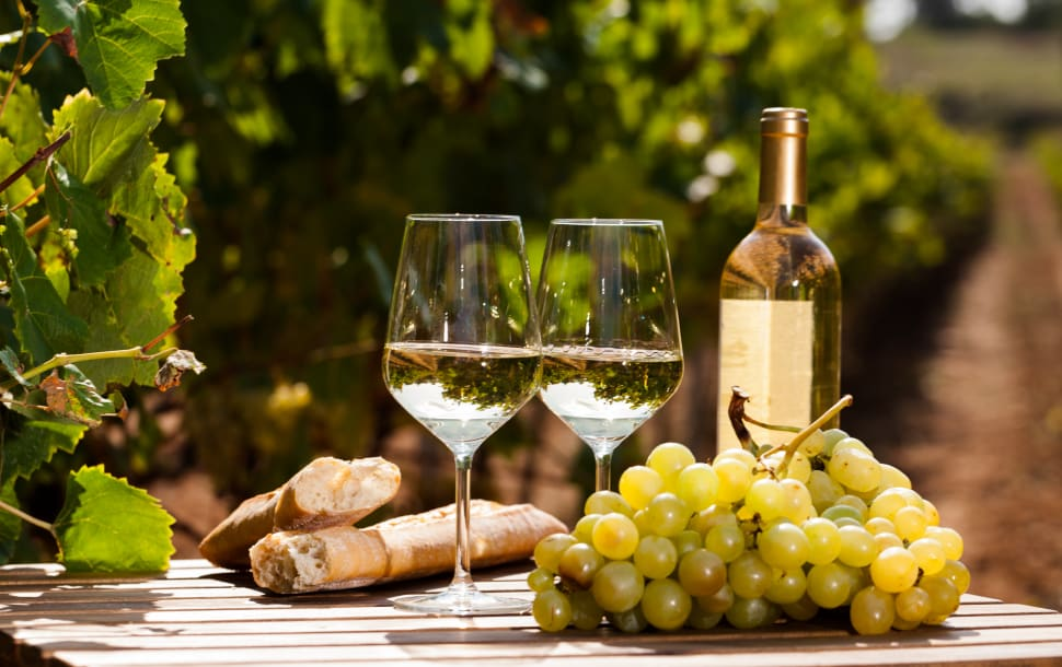 Chardonnay is a dry white wine with flavors varying form buttery to more acidic.