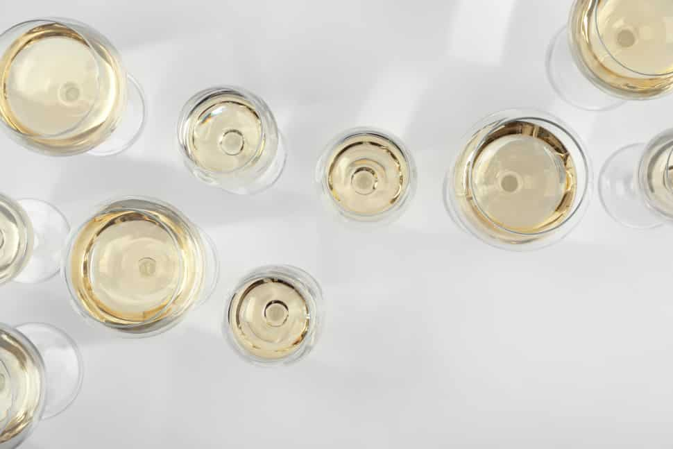 Oaked chardonnay flavor comes from malolactic fermentation when wine is stored in oak barrels.